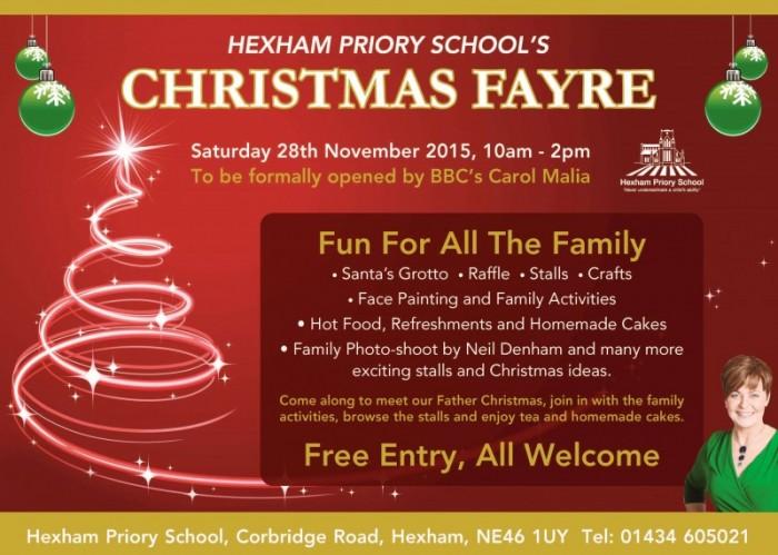 Christmas Fayre Hexham Priory School